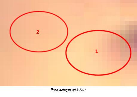 Foto asli dan rekayasa dilihat dari efek blur