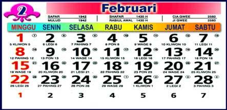 Kalender Februari 2009