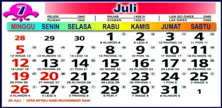 Kalender Juli 2009